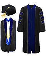 doctoral graduation gown graduationmall deluxe doctoral graduation gown black
