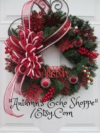 martha stewart living festive cedar and pine wreath faux