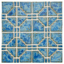 earthy and colorful 1970s style wall and floor tile pretty