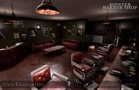 artstation hipster barber shop alex gianquitto