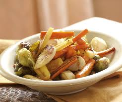 Glazed Root Vegetables Recipe - roasted winter vegetables with a maple ginger glaze finecooking