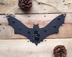 Hanging Bats Halloween Decor by Hanging Bat Etsy