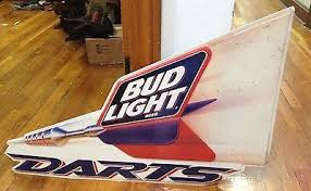 bud light tin signs bud light darts tin sign antique price guide details page