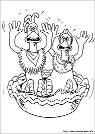 chicken run coloring picture coloring activities