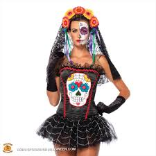sugar skull bustier costumes for women spookers halloween