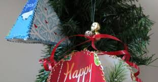 how to make ornaments made from recycled greeting cards