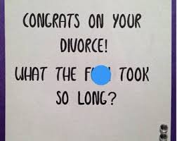 congrats on your divorce card divorce card etsy