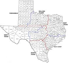 Dallas County Map Texas State Map With Counties Outline And Location Of Each County