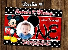 personalized mickey mouse birthday invitations blueklip com