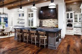 Rustic Kitchen Lights by Modern Rustic Kitchen Lighting With Wooden Floor And Hanging Lamps