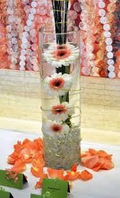 Daisy Centerpiece Ideas by Submerged Centerpieces Submerged Gerbera Daisy Centerpiece With