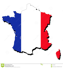 Image Of French Flag Map Of France With Flag Stock Vector Illustration Of Symbol 7434864