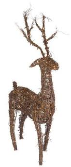 48 grapevine standing reindeer led outdoor yard decoration
