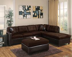 Sectional Sofa And Ottoman Set by Chocolate Reversible Sectional Sofa With 2 Pillows
