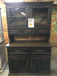 Black China Cabinet Hutch by Rustic Canyon Distressed Black China Cabinet Vit 10 Black