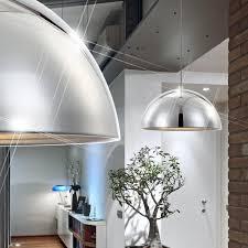 Schlafzimmer Lampe Silber Hänge Leuchte Silber Chrom Pendel Wohnraum Lampe Länglich