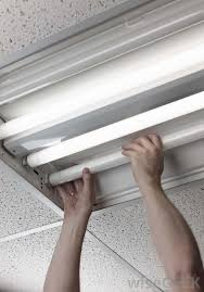 Replace Fluorescent Light Fixture In Kitchen by Fluorescent Lighting How To Change A Fluorescent Light Bulb In