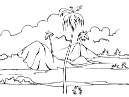 awesome nature coloring page 8 7844