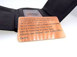 8th anniversary gift personalized wallet insert anniversary gift