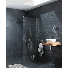 Kitchen Wall Stone Tiles - wickes slate riven grey natural stone tile 300 x 300mm wickes co uk