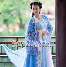 Shop Halloween Costumes China Ancient Beauty Hanfu Long Robes Clothes Halloween Costume