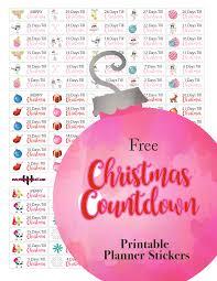plannerpickett free christmas countdown calendar planner sticker