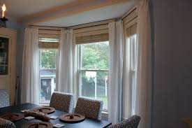 window treatments for bay windows in dining room bowldert com