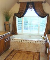 bathroom curtain ideas brown bathroom window curtains tips for choose right bathroom