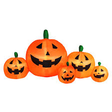 halloween blow ups clearance totally ghoul 6 u0027 halloween inflatable flashing pumpkin patch