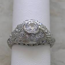 vintage antique engagement rings vintage antique engagement ring bezel set platinum