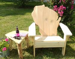 adirondack chairs outdoor furniture custom by twoheartedcabincraft