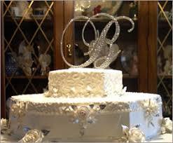 fleur de lis cake topper swarovski monogram cake top initials