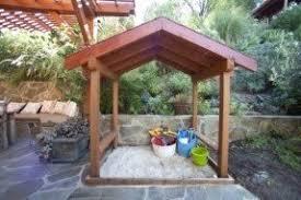 Backyard Sandbox Ideas Wooden Sandbox With Cover Foter