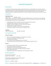 Retail Assistant Resume Example Sales Skills Resume Examples Resume Samples Types Of Resume