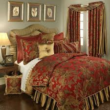 Red And Gold Damask Curtains Damask Bedding Sale Save On Luxury Damask Bedding Sets