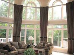 Curtains For A Large Window Inspiration Architecture Window Treatments For Large Windows Bcktracked Info