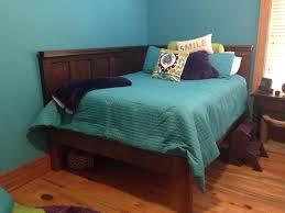 Corner Bed Headboard Corner Size Bed Using 2 5 Panel Doors Vintage