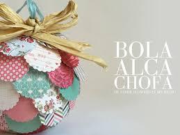 ideas para decorar bolas de navidad con papel de scrapbooking