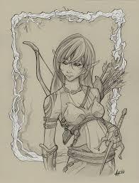 random sketch 11 wood elf by sanaril on deviantart