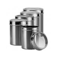 stainless steel kitchen canister stainless steel canister set storage kitchen counter container 5