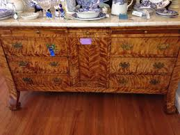 Tiger Maple Furniture Antique Tiger Maple Marbletop Buffet In Hartsville This Weekend
