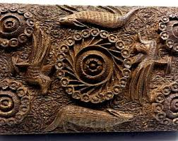 carved wood box etsy