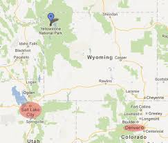 map salt lake city to denver where is yellowstone national park yellowstone gate