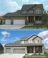 home design basics both pictures are homes built from the same design basics home