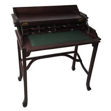 Wood Secretary Desk by Mahogany Wood Writing Desk Antique Style Guaranteed Against