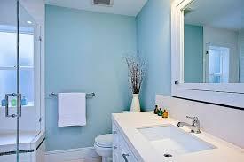 Bathroom Color Atmosphere Beach Themed Bathroom Pale Blue Walls
