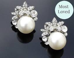 bridesmaid pearl earrings luxury wedding earrings jules bridal jewellery