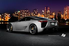 lexus lfa modified matte silver lexus lfa heading to vancouver international auto