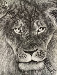lion print lion scratch art u0027 print justastarvingartist foundmyself