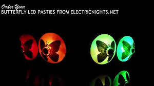 led light up pasties butterfly led pasties from electric nights www electricnights net
